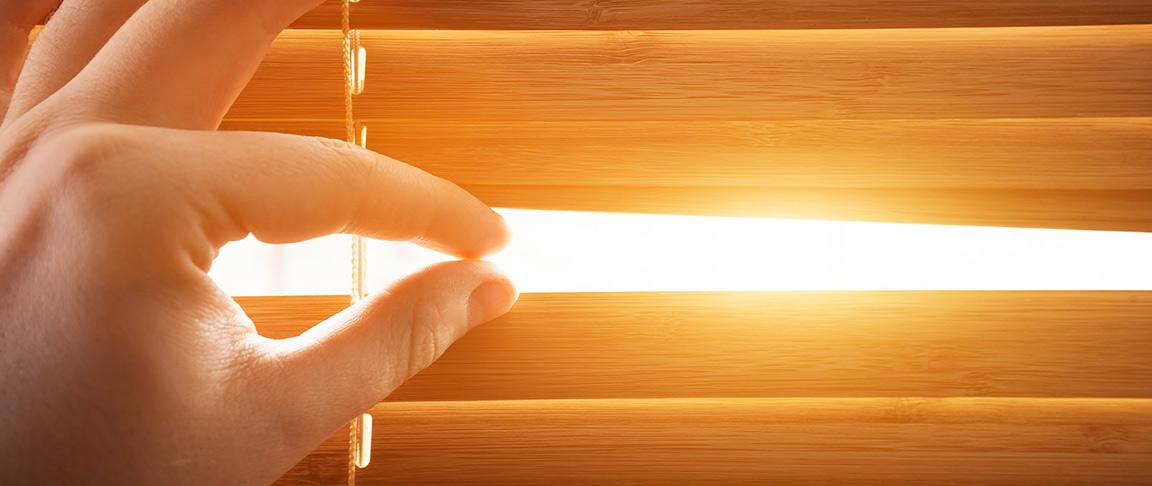 natural lighting blinds